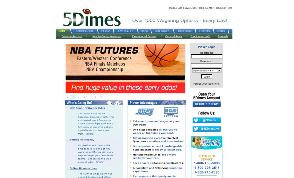 5Dimes Screenshot