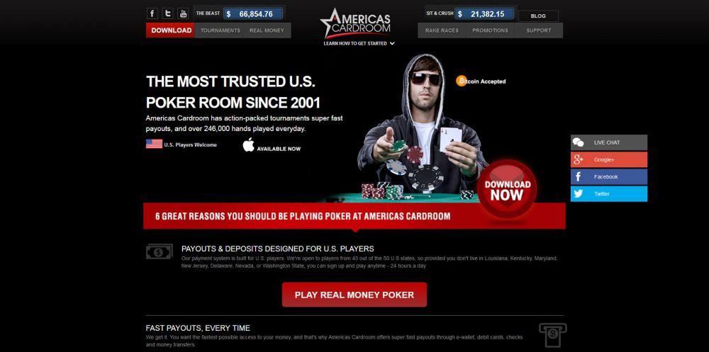Americas Cardroom Screenshot