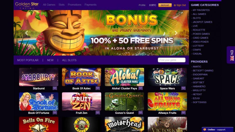 Golden Star Casino Screenshot