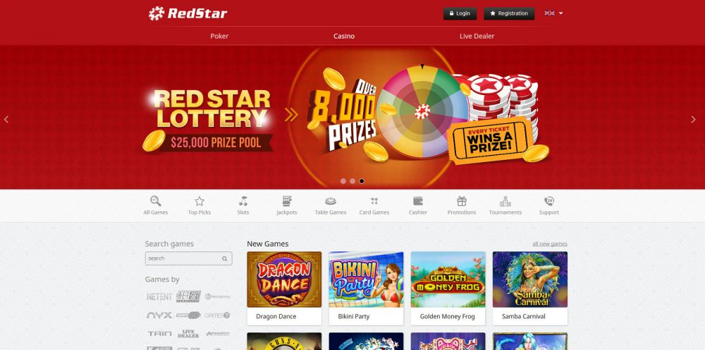 Red Star Casino Screenshot